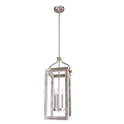 Westbury 5-Light Brushed Nickel with Painted Grey Driftwood Pendant