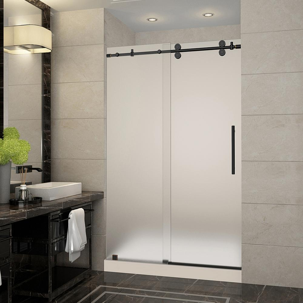 Langham 48 in. x 36 in. x 77.5 in. Frameless Sliding