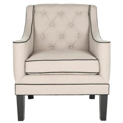 Sherman Black/Beige Accent Chair