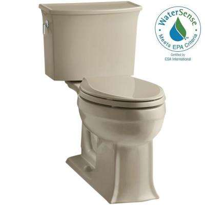Archer Comfort Height 2-piece 1.28 GPF Elongated Toilet with AquaPiston Flushing Technology in Mexican Sand