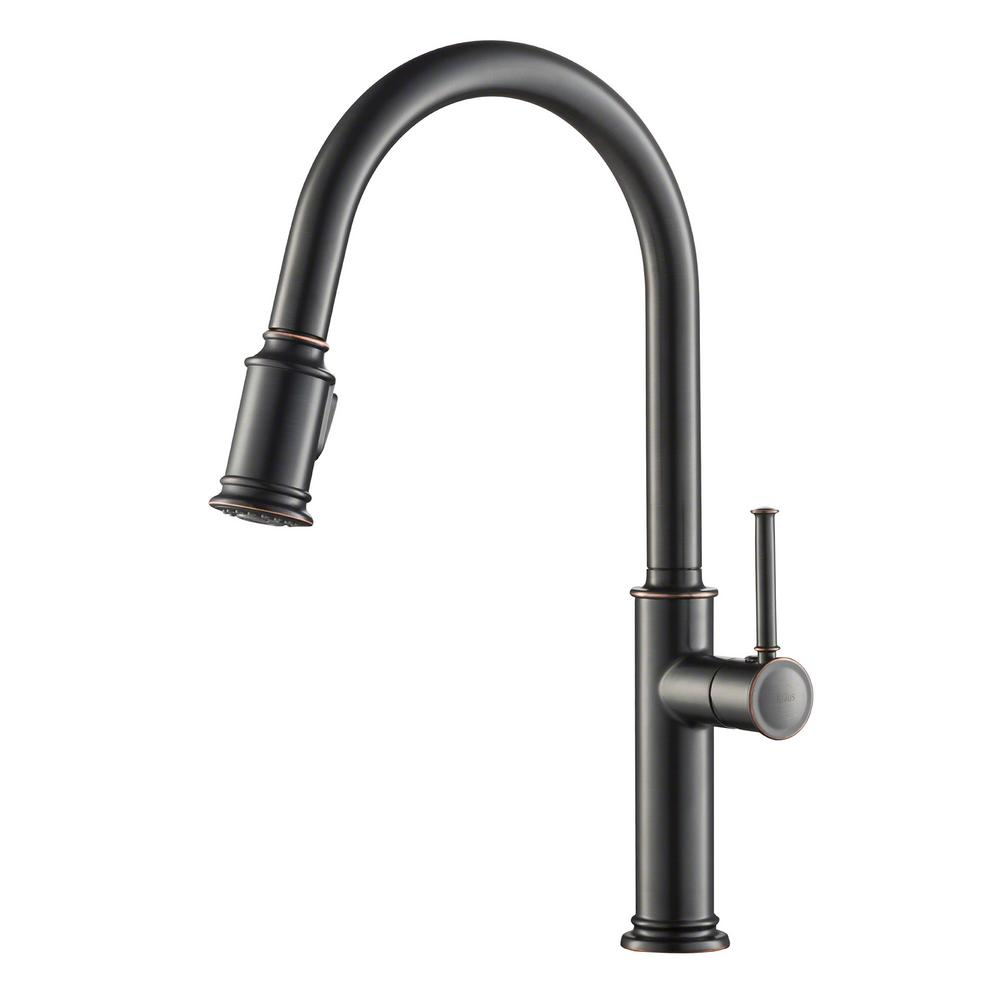 kraus kitchen faucets reviews kraus sellette single handle pull down sprayer kitchen faucet with dual function sprayhead in 6723
