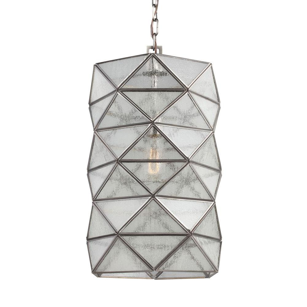 Harambee 1-Light Antique Brushed Nickel Indoor Pendant