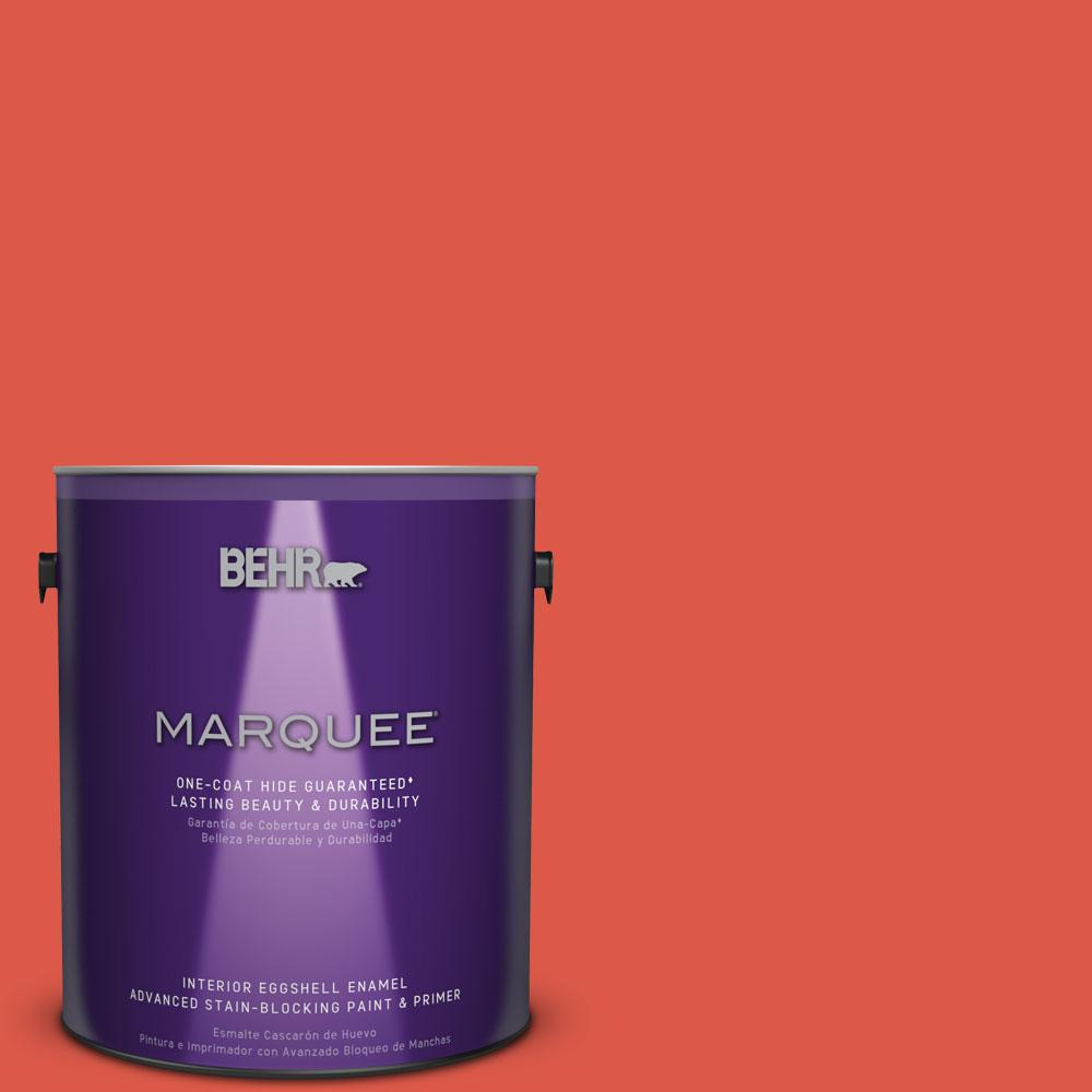 1 gal. #T12-7 Red Wire Eggshell Enamel Interior Paint