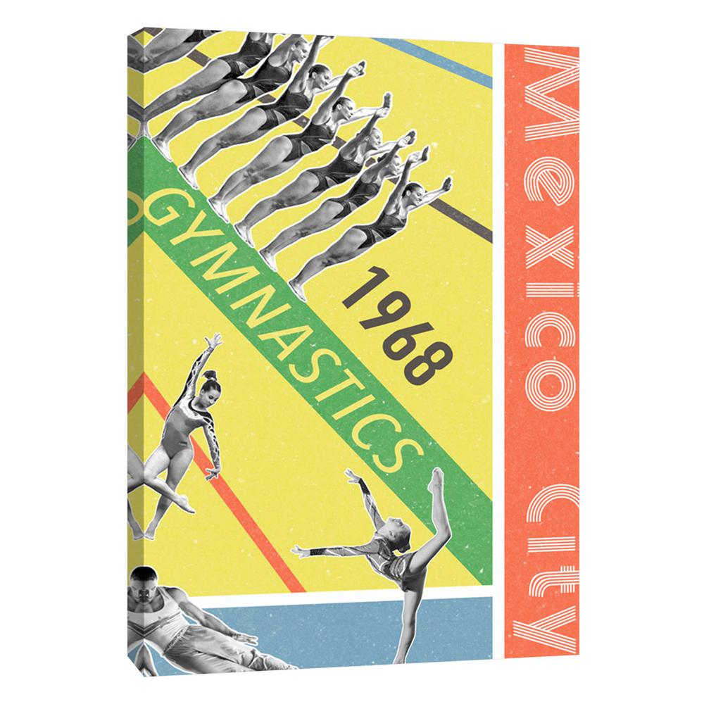 PTM Images 12.in x 10.in \'\'Mexico City Gymnastics 1968\'\' Printed ...