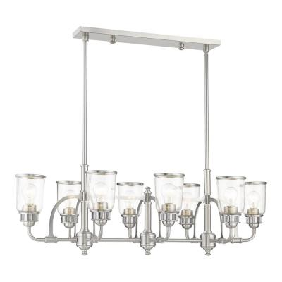 Lawrenceville 8-Light Brushed Nickel Linear Chandelier