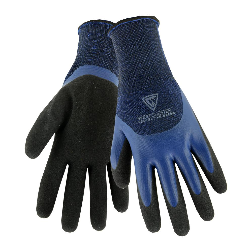 West Chester Protective Gear Double Dipped Blue Latex 10