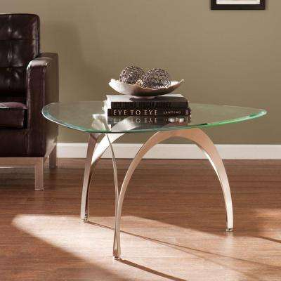 Charles Satin Nickel Coffee Table