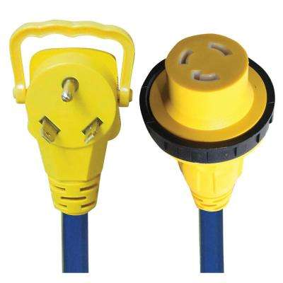 30A E-Zee Grip Locking Extension Cord - 2'