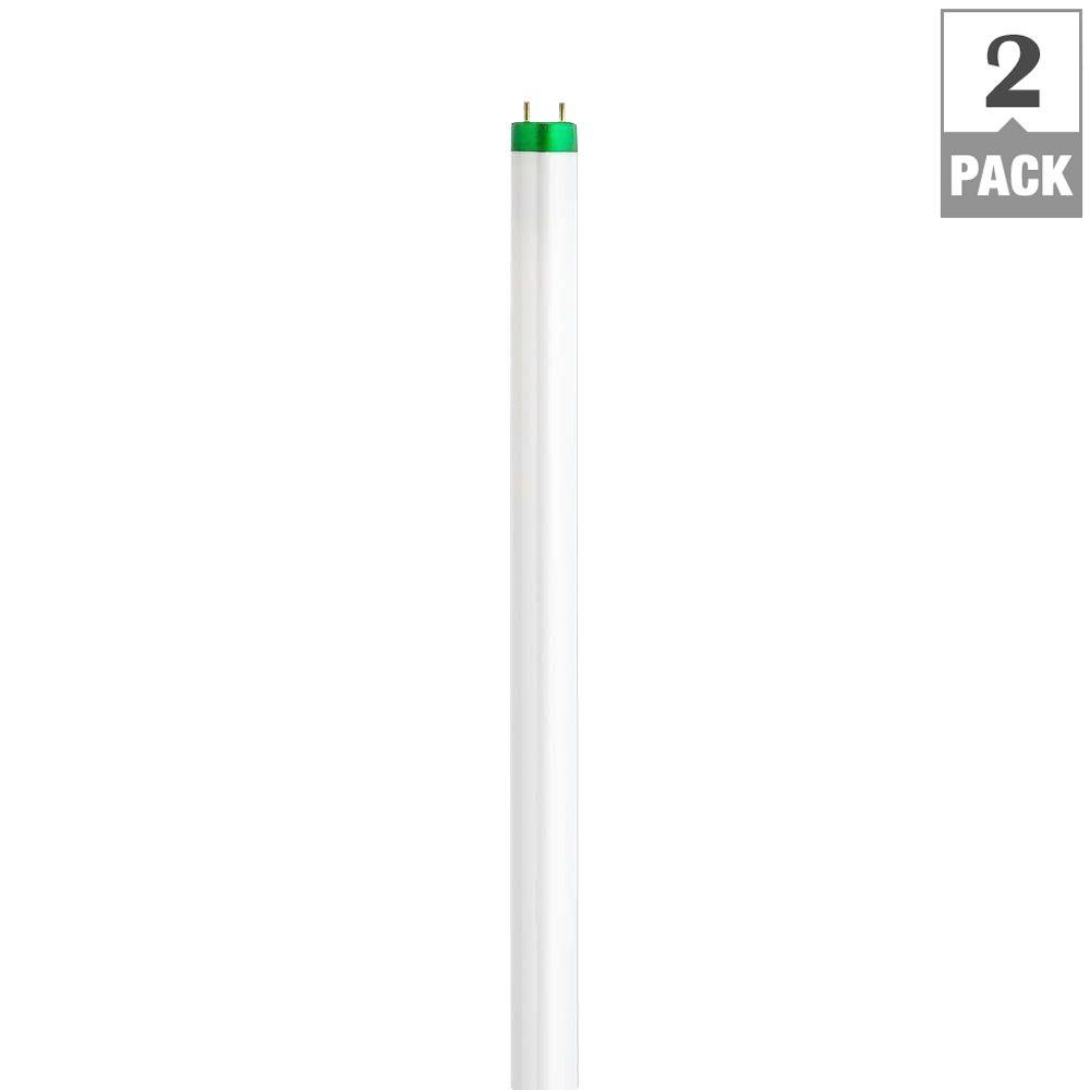 Philips 4 ft t8 32 watt daylight alto linear fluorescent light bulb 2 pack 451823 the home Fluorescent light bulb