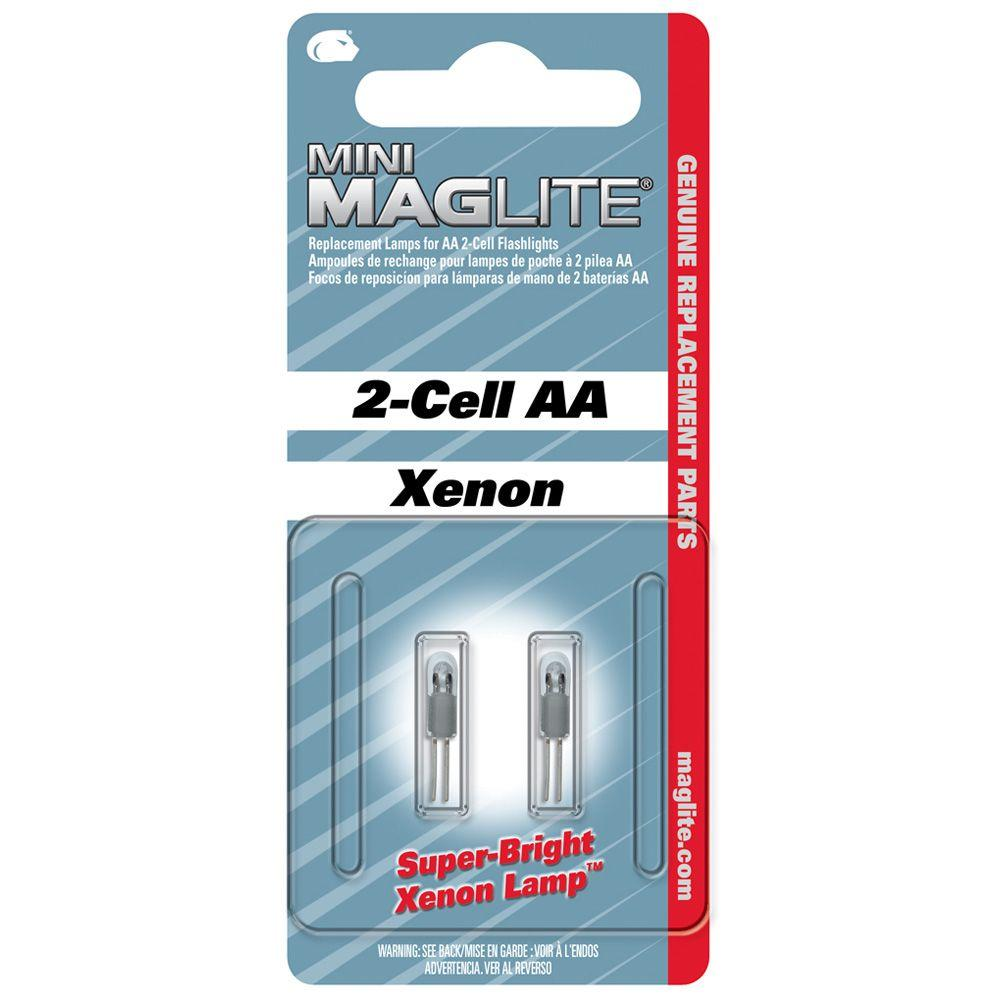 Maglite Xenon Replacement Lamps for 2-Cell AA Flashlights (2-Pack)