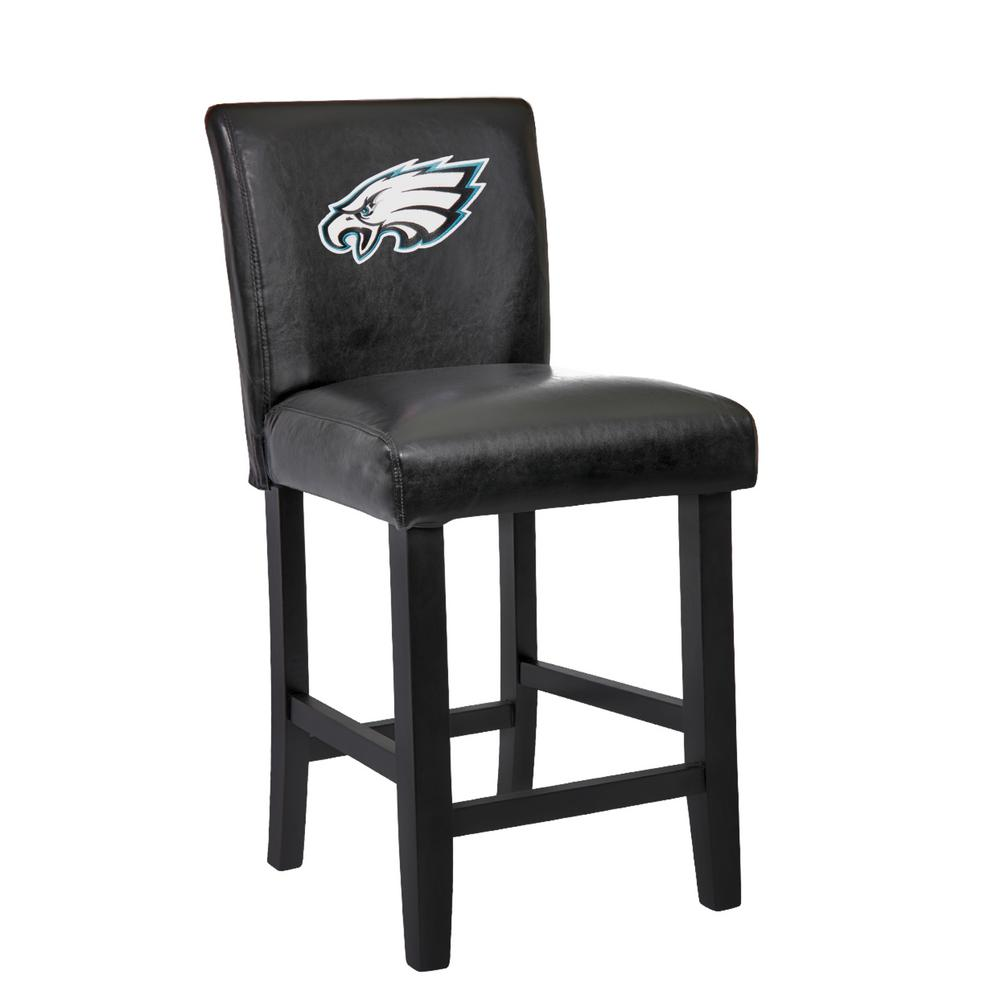 Philadelphia Eagles 24 In Black Bar Stool With Faux