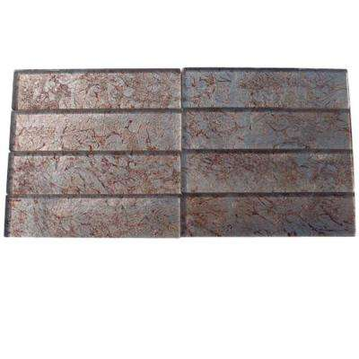 Petal Dust 2 in. x 8 in. x 8 mm Glass Floor and Wall Tile
