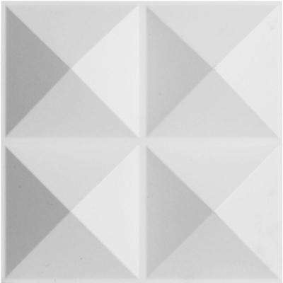 1-3/8 in. x 11-7/8 in. x 11-7/8 in. PVC White Tirana EnduraWall Decorative 3D Wall Panel