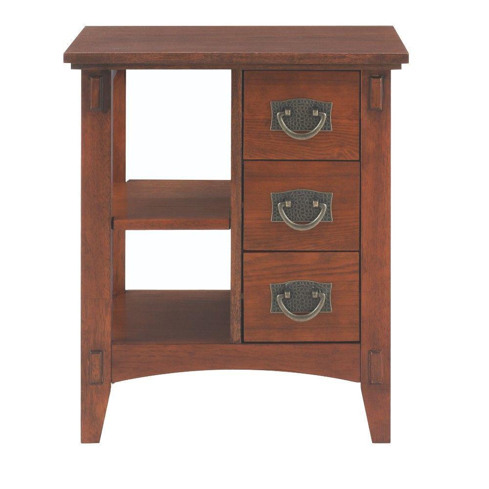 Home Decorators Collection Medium Oak Storage End Table9224000550