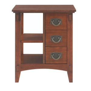 Home Decorators Collection Medium Oak Storage End Table 9224000550 The Home Depot