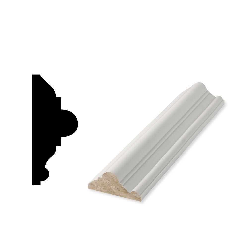 Woodgrain Millwork WP 300 1-1/16 in. x 3 in. x 96 in. Primed Finger-Jointed Chair Rail Moulding