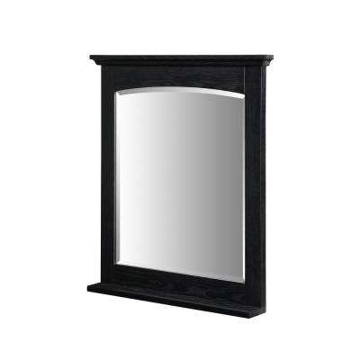 Kent 28 in. W x 32 in. L Wall Mount Mirror in Brown Ebony
