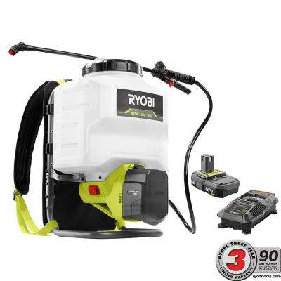 ONE+ 18-Volt Lithium-Ion Cordless Backpack Chemical Sprayer - 2.0Ah Battery and Charger Included