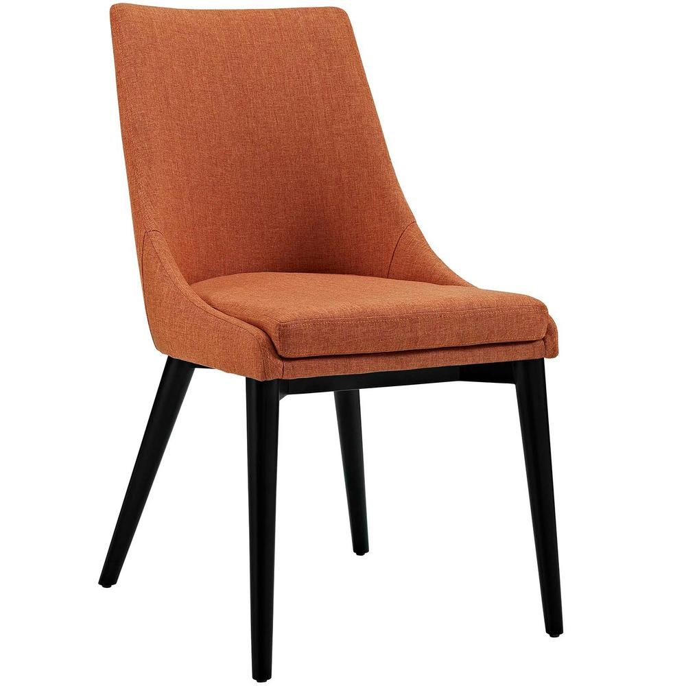 Orange Dining Chairs: MODWAY Viscount Orange Fabric Dining Chair-EEI-2227-ORA