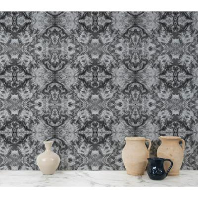 ABRA Collection Moire Removable and Repositionable Wallpaper