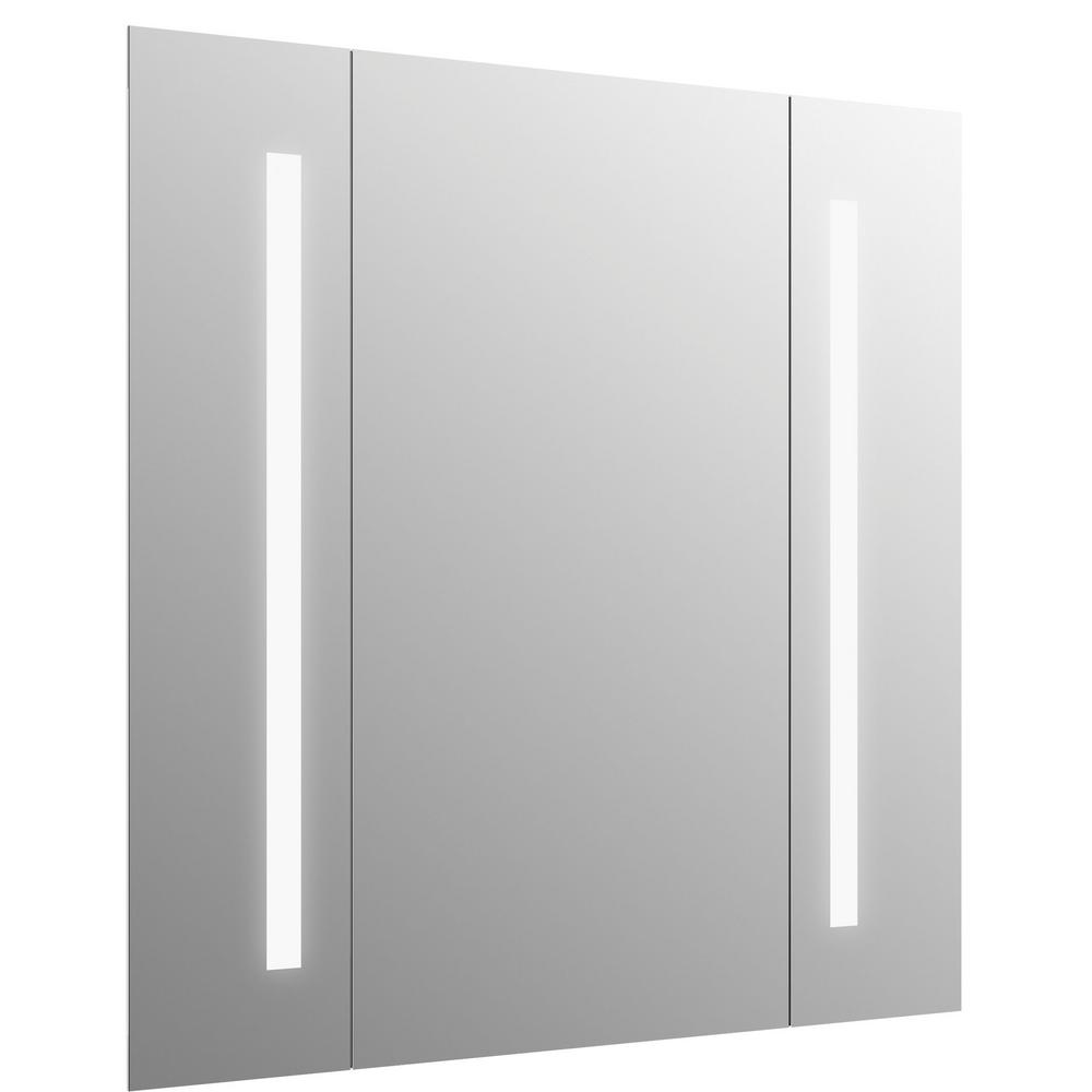 h lighted mirror. frameless  bathroom mirrors  bath  the home depot