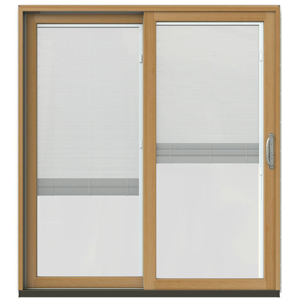 Jeld wen 71 1 4 in x 79 1 2 in w 2500 desert sand for Sliding wood patio doors
