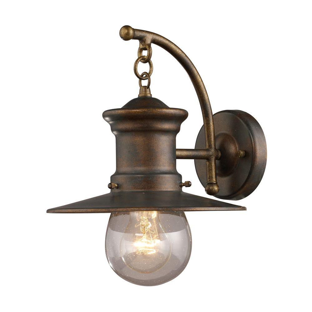 Titan Lighting Maritime Wall Mount Outdoor Hazelnut Bronze Sconce