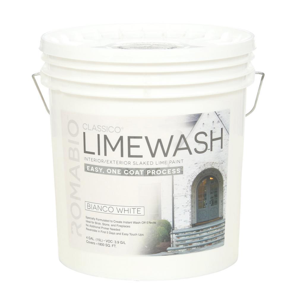 4 gal. Bianco White Limewash Interior/Exterior Paint