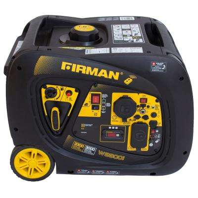 Whisper Series 3000-Watt Gasoline Powered Remote Electric Start Portable Generator with Firman Engine