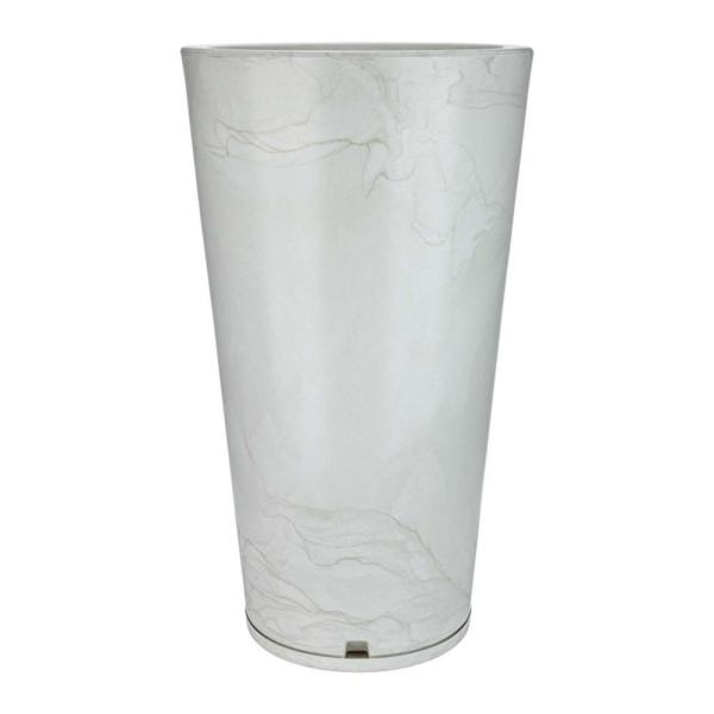 Genebra Large White Marble Effect Resin Planter Bowl