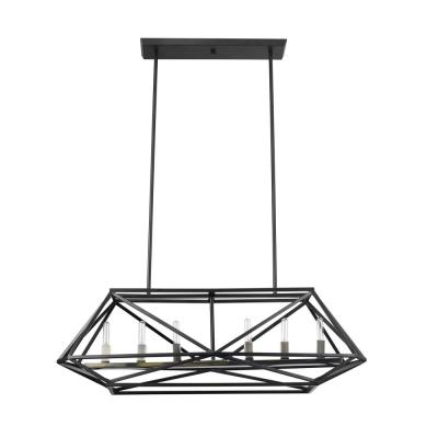 Sansa 6-Light Dark Bronze Chandelier