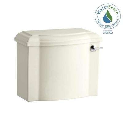 Devonshire 1.28 GPF Single Flush Toilet Tank Only in Biscuit