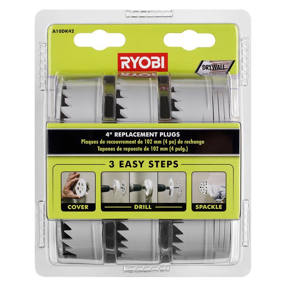 4 in. Replacement Plugs for Drywall Repair Kit