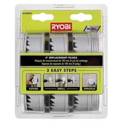 4 in. Replacement Plugs for Drywall Repair Kit