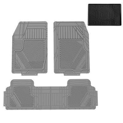 Oversized Full Coverage Protective Trimmable 31 in. x 22.5 in. Rubber Floor Mats