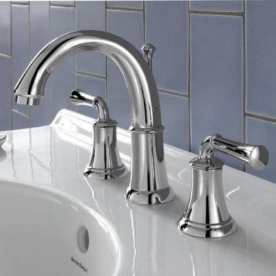 Portsmouth 8 in. Widespread 2-Handle Mid-Arc Bathroom Faucet with Metal Lever Handles in Polished Chrome