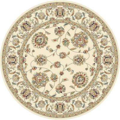 Judith Ivory 8 ft. x 8 ft. Round Indoor Area Rug