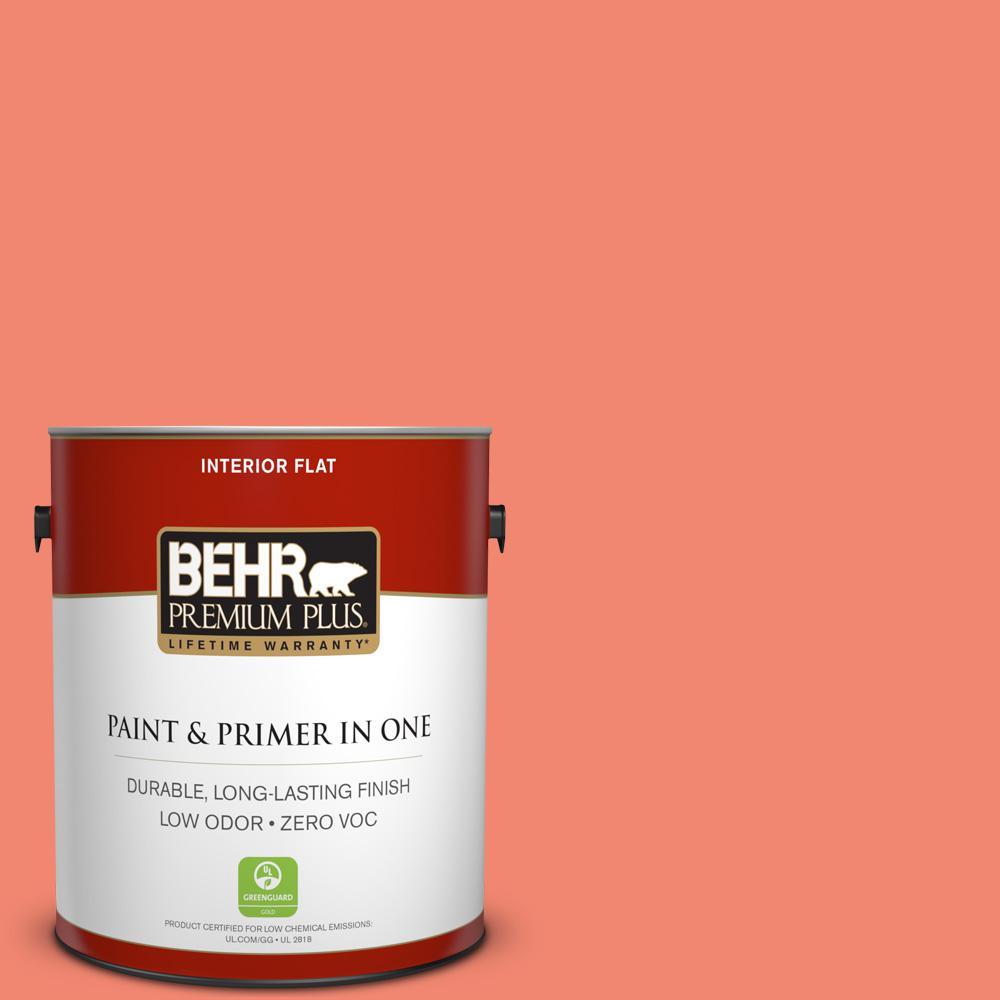 BEHR Premium Plus 1-gal. #190B-5 Juicy Passionfruit Flat Interior Paint