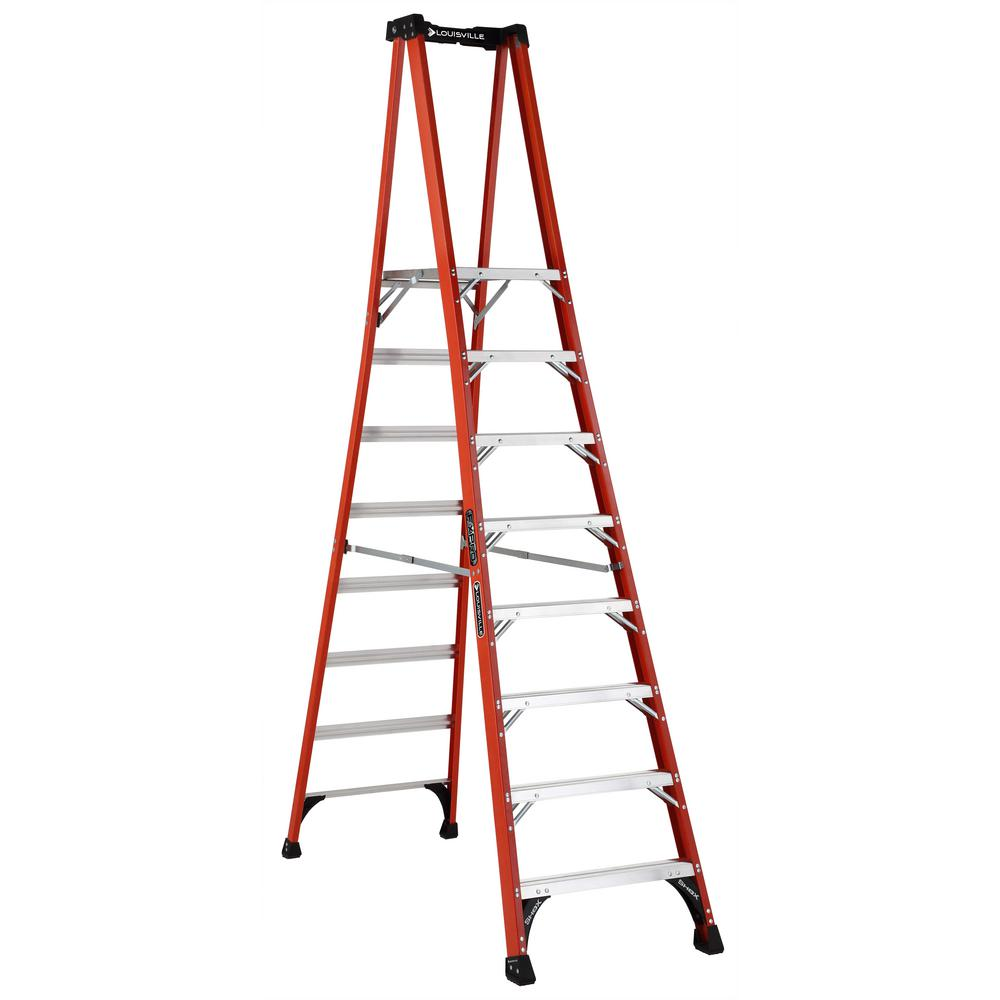 8 ft. Fiberglass Pinnacle PRO Platform Ladder with 375 lbs. Load