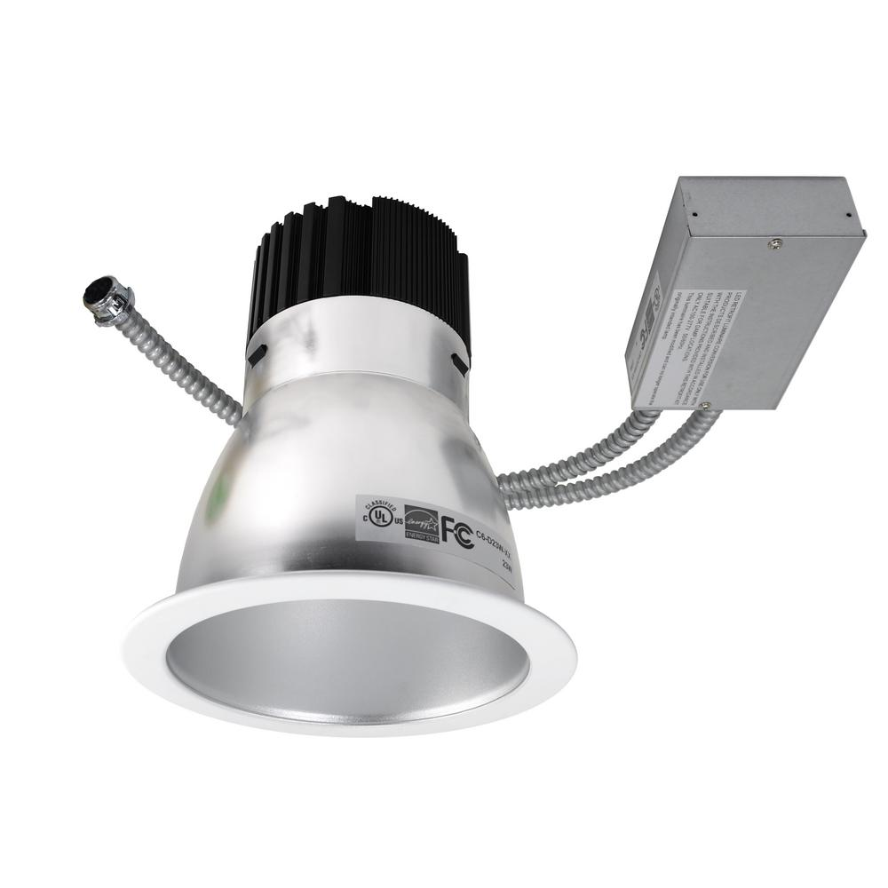 Satin (4000K) Commercial LED Recessed Downlight Retrofit Kit with 2250  sc 1 st  Home Depot & NICOR 6 in. Satin (4000K) Commercial LED Recessed Downlight Retrofit ...