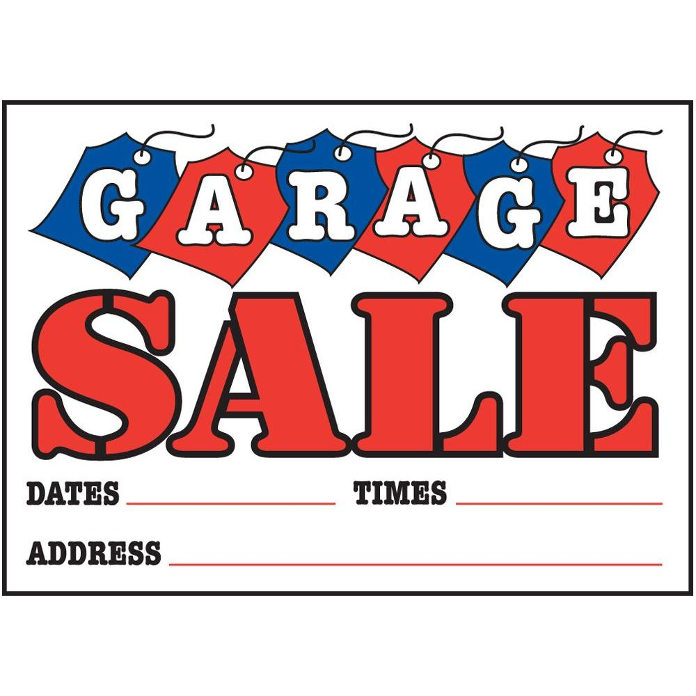 Hy Ko 10 In X 14 In Plastic Garage Sale Sign With Tags 22106 The