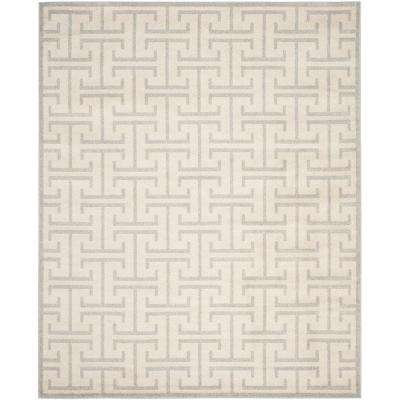 Amherst Ivory/Light Gray 4 ft. x 6 ft. Indoor/Outdoor Rectangle Area Rug