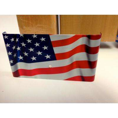 USA Flag Demi Fence Post Guard 5.5 in. L x 3 in. H x .5 in. D for Wood