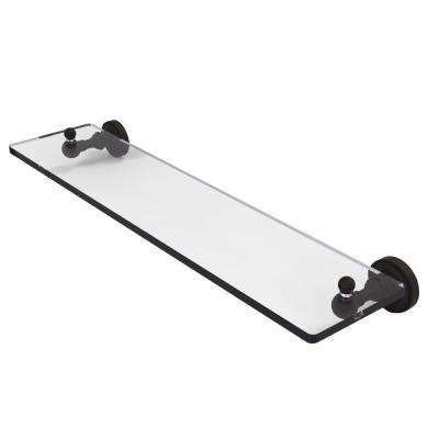Dottingham 22 in. L  x 3 in. H  x 5 in. W Clear Glass Vanity Bathroom Shelf in Oil Rubbed Bronze