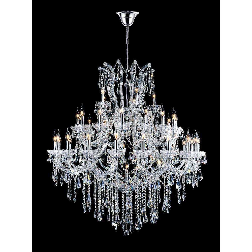 CWI Lighting Maria Theresa 41-light chrome chandelier