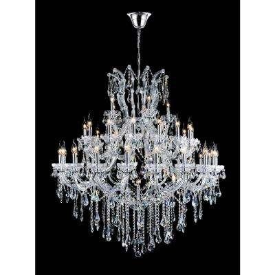 Maria Theresa 41-light chrome chandelier