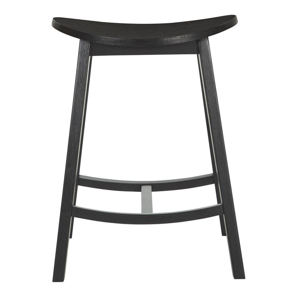 OSP Home Furnishings 24 in. York Antique Black Scoop Saddle Stool (Set of 2) OSP Home Furnishings 24 in. York Antique Black Scoop Saddle Stool (Set of 2)