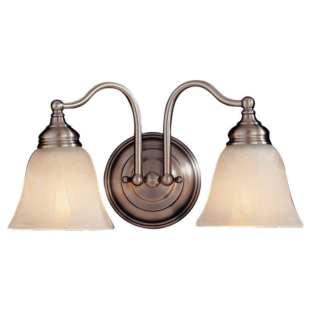 Feiss Bristol 2-Light Pewter Vanity Light-VS6702-PW