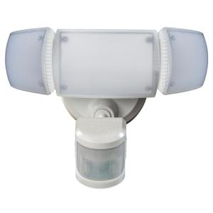 Defiant 270° White Motion Activated Outdoor Integrated LED Triple Head Flood... by Defiant