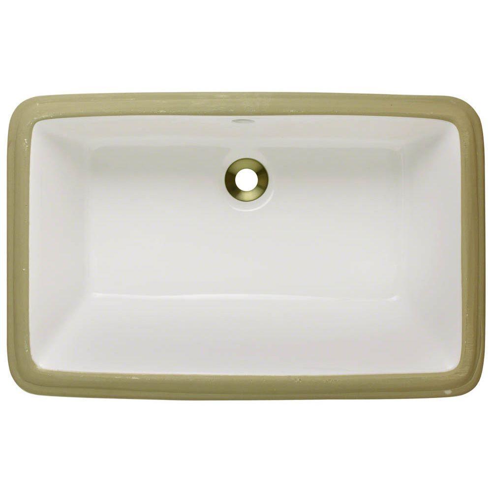 Mr Direct Undermount Porcelain Bathroom Sink In Bisque U1812 B